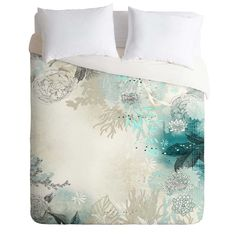 DENY Designs Iveta Abolina Seafoam Duvet Cover in Blue
