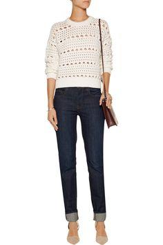 Proenza SchoulerCropped open-knit cotton-blend sweaterfront