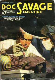 DOC SAVAGE - Resurrection Day | pulp cover art vintage