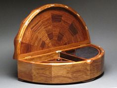Rosewood Jewelry Box with Rrotating Trays