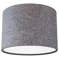 Quirk Harris Tweed 30cm grey lampshade