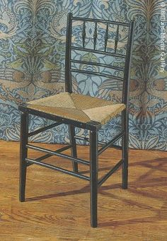 """William Morris, Sussex chair - with """"Peacock and Dragon"""" textile Design, England, arts and crafts movement Arts And Crafts Furniture, Diy Arts And Crafts, Westminster, Morris Chair, William Morris Art, Victorian Art, Arts And Crafts Movement, Furniture Styles, House And Home Magazine"""