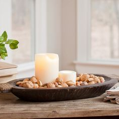 Wooden Bowl Decorating Ideas Dough Bowl Filled With Gourds And Pearshave This Bowl Already