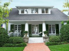 Oversized Shutters: Curb Appeal Ideas from HGTV Magazine >> http://www.hgtv.com/decorating-basics/curb-appeal-steal-the-look/pictures/page-19.html?soc=pinterest
