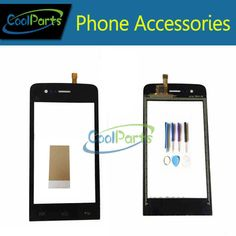 Black and White Color Touch Screen Digitizer Touch Glass Replacement Parts For Wiko Fizzy with Tools/Tape glue 1PC/Lot #Affiliate