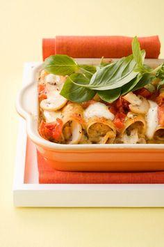 Cannelloni mit Pilz-Ricotta-Füllung
