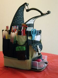 This is my daughter's portable homework station! Love it!! She can carry her school supplies to either the kitchen table, her bedroom or to Grandma's house. www.gracebrooke.com