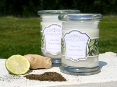 Green Tea, Lime & Ginger - Detoxing & Healing  part of the new collection from www.lowerlodgecandles.com launching August 2013