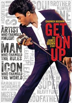 Get On Up tells the James Brown story in the most entertaining and enlightening of ways. Get On Up is out on DVD and Blu-Ray and contains. James Brown, Jodie Foster, James Cameron, Nelsan Ellis, Brian Grazer, Get On Up, Octavia Spencer, The Blues Brothers, Hard Working Man