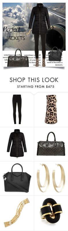 """""""Perfect Puffer Jackets"""" by shoecraycray ❤ liked on Polyvore featuring Givenchy, Kate Spade, Moncler, Goyard, Passport, Carla Amorim and Marco Bicego"""
