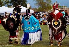 Choctaw Women's Fancy Shawl Dancer and Men's Traditional Dancer (pow wow)