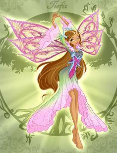 Winx Club Flora Tiefix by fantazyme on DeviantArt Winx Cosplay, Winx Magic, Hades Disney, Les Winx, Flora Winx, Bloom Winx Club, Club Design, Club Outfits, Magical Girl