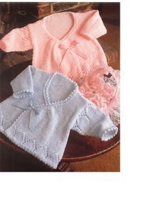 Baby Knitting Pattern - Wrapover sweaters/cardigans/jackets/coats - 14, 16 and 18 in sizes PDF