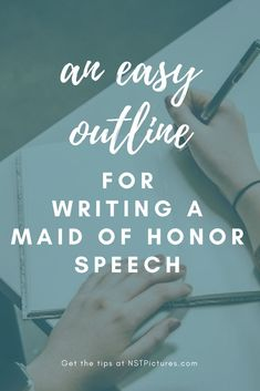 Maid of Honor speech writing made easy Matron Of Honor Speech, Matron Of Honour, Best Man Wedding Speeches, Wedding Advice, Wedding Ideas, Wedding Stuff, Bridesmaid Speeches, Bridesmaids, Perfect Wedding