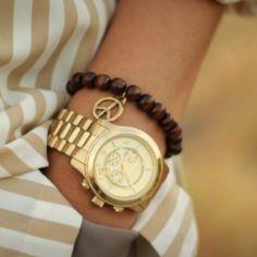 Gold Boyfriend Watches & Bracelets!