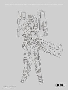 FANART : Mobile Suit Gundam Girl Iron-Blooded Orphan Gaiden (Side Story) New Gunpla [Name Tentative]