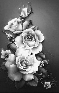 Best realistic flower tattoo black and white Ideas Rose Flower Tattoos, White Rose Tattoos, Flower Tattoo Designs, Black Tattoos, Black And Grey Rose Tattoo, Tattoo Femeninos, Flor Tattoo, Tattoo Drawings, Body Art Tattoos