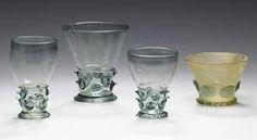FOUR WALDGLAS PRUNTED GLASSES, early 16th-early 17th century, German