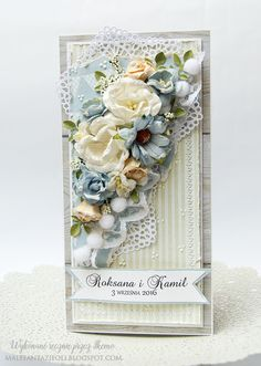 Male fantazje Oli, Card with flowers