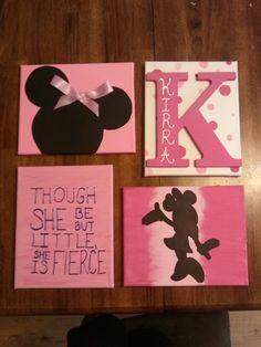 Minnie mouse canvas set
