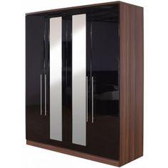 Modular 4 Door Wardrobe with Mirrors