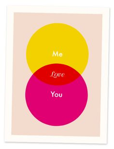 Love Venn Graphic Wall Art Print It S Got The Raw Geed Chic Of A Pretty Diagram But More Subtle Sentimentality Two People In