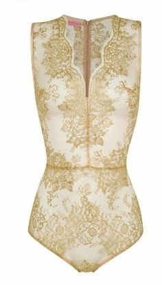 gold lace body by Gilda & Pearl Luxury Lingerie, Sexy Lingerie, Donia, Lingerie Sleepwear, Nightwear, Gold Lace, Beautiful Outfits, Lounge Wear, What To Wear