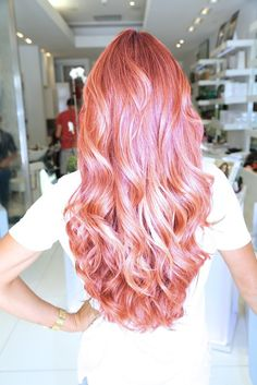 Pink coloured hair