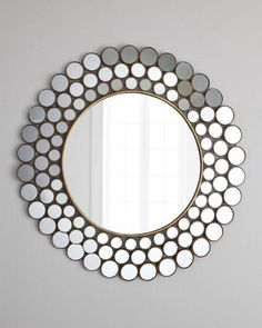 Shop Mirrored Circles Accent Mirror at Horchow, where you'll find new lower shipping on hundreds of home furnishings and gifts. Mirror Art, Mirror Ideas, Round Mirrors, Floor Mirrors, Wall Mirrors, Mocca, Affordable Home Decor, Modern Spaces, Looks Vintage