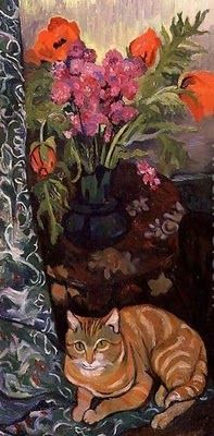 Suzanne Valadon (1865-1938) Bouquet and a Cat 1919