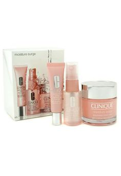 Shop Clinique Moisture Surge Set Cream 75ml + Eye Gel 15ml + Face Spray 30ml online at lowest price in india and purchase various collections of Makeup in Clinique brand at grabmore.in the best online shopping store in india