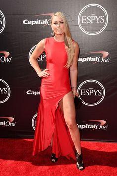 Lindsey Vonn at the 2015 ESPY Awards // #style // See everyone else: http://www.racked.com/2015/7/15/8975237/espys-2015-red-carpet-caitlyn-jenner-kylie-kendall-everyone-else-lol#?utm_medium=social&utm_source=pinterest&utm_campaign=racked