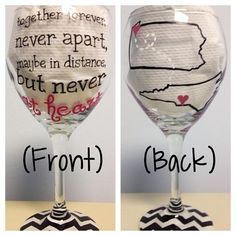 Custom Hand-Painted Glassware on Etsy, $28.00