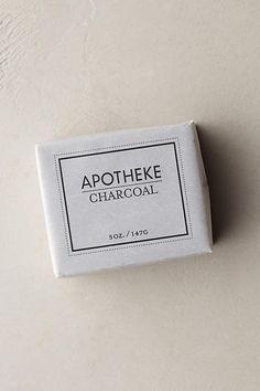 Apotheke Charcoal Bar Soap   Anthropologie