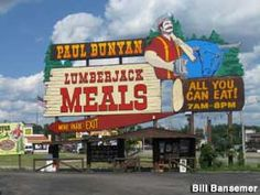 # 5 ~ Paul Bunyan's Cook Shanty, Wisconsin Dells. When in the Dells you must go to Paul Bunyan's for breakfast , the donuts are made fresh all day long, TAKE A few with you too, this is all you can eat. OMG