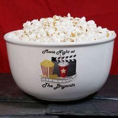 Personalized Movie Night Ceramic Bowl