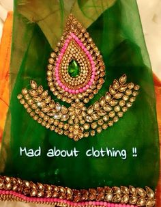 Wow Silk Saree Blouse Designs, Fancy Blouse Designs, Bridal Blouse Designs, Hand Embroidery Designs, Beaded Embroidery, Kamiz Design, Maggam Work Designs, Coin Design, Work Blouse