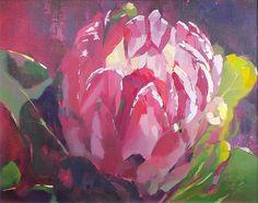 She's A Beauty (framed) R Art Flowers, Abstract Flowers, Watercolor Flowers, Flower Art, Protea Art, Protea Flower, Floral Paintings, Oil Paintings, Abstract Canvas Art