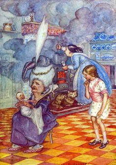 """Л.Кэрролл """"Приключения Алисы в стране чудес"""" Иллюстрации A.E.Jackson Нью-Йорк, 1915 год"""