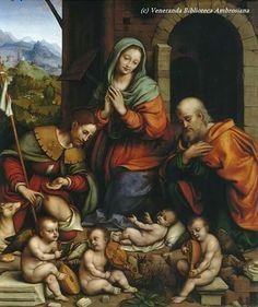 Giampietrino, adorazione con San Rocco, Pinacoteca Ambrosiana