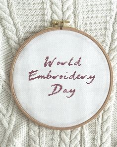 D day is finally here - today we celebrate World Embroidery Day! 🍰🎊 Bring out your cross-stitch kit and embroider with us!☀️ Share your pics and videos with the hashtags #worldembroideryday2021 and #folklorecompany to compete about a gift card worth 500 SEK.❤️ The competition ends 1/8. Happy embroidery day y'all! Embroidery For Beginners, Stitch Kit, Cross Stitch Designs, Diy Kits, Tool Design, Folklore, Design Crafts, Wall Hangings, Hashtags