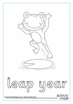 Leap Year Finger Tracing Click Through To The Website For Printable