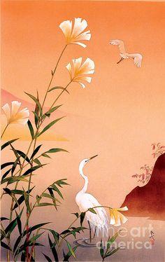 Fuyo And Tuyukusa Print By Haruyo Morita