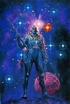 Weird and cool images I discover as I drift aimlessly through cyberspace. I like science fiction, fantasy, comics, vintage covers, posters and general weirdness. Arte Sci Fi, Arte Alien, Alien Art, Space Fantasy, Sci Fi Fantasy, Fantasy Women, Science Fiction Art, Science Art, Arte Lowbrow