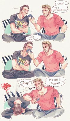 So that's how he saw Chris hemsworth naked... lol