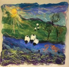 Felted Landscape by Mariana Nelson featured on www.livingfelt.com/blog