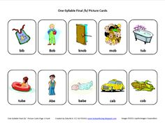 Final/b/  Articulation Card...  Download this Articulation Card here  http://testyyettrying.blogspot.com/2011/07/final-b-free-speech-therapy.html