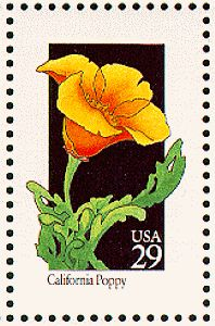 Great graphic for art project of some kind... California poppy  1992-07-24