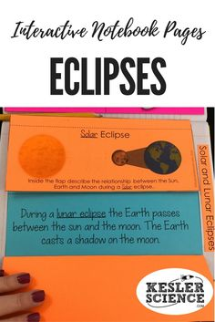 Evaluate the relationship between the Sun, Earth, and Moon during lunar and solar eclipses. Turn science notebooks into a fun, interactive, hands-on learning experience for your upper elementary or middle school students! Grades 3rd 4th 5th 6th 7th 8th