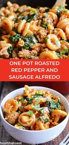 Wanting to try a new type of alfredo pasta? Then check out this delicous one pot roasted red pepper pasta! Click here to learn how to make this dish!